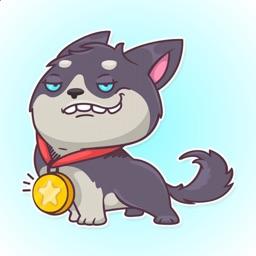 Fun Puppy Husky Stickers