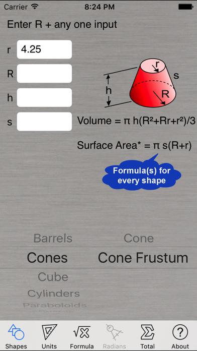 Volume Calculator review screenshots