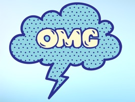 Text your friends and let them know what you are thinking with Blue Speech Bubble Words Text Sticker Pack for iMessage