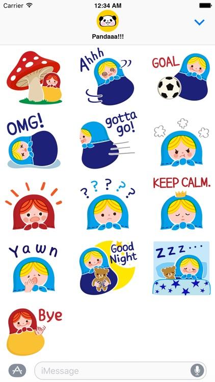 Little Matryoshka Stickers for iMessage screenshot-3
