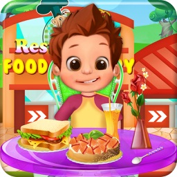 Restaurant Food Factory Cooking games for kids