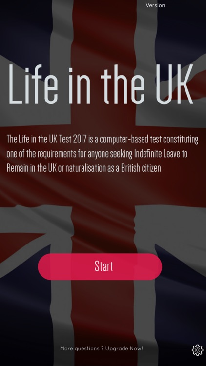 Life in the UK Test Question 2017