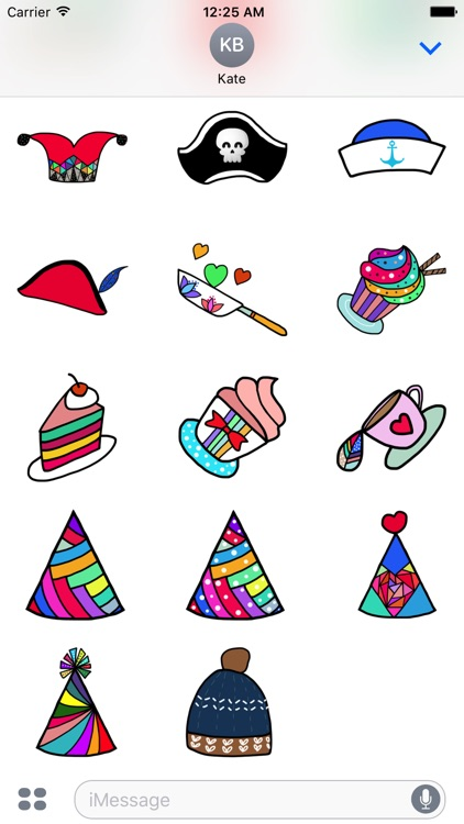 Doodle Hat Stickers by StiPia screenshot-3