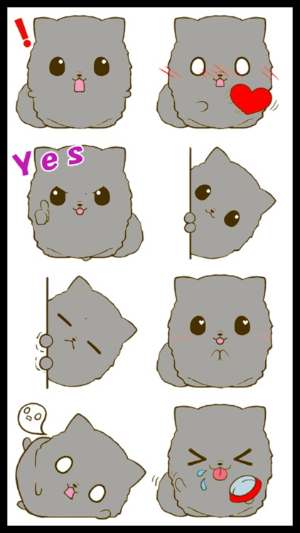 Fluffy Kitty 2 Stickers screenshot-1