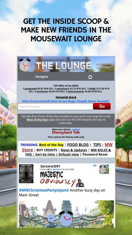 MouseWait Disneyland Lounge screenshot-3
