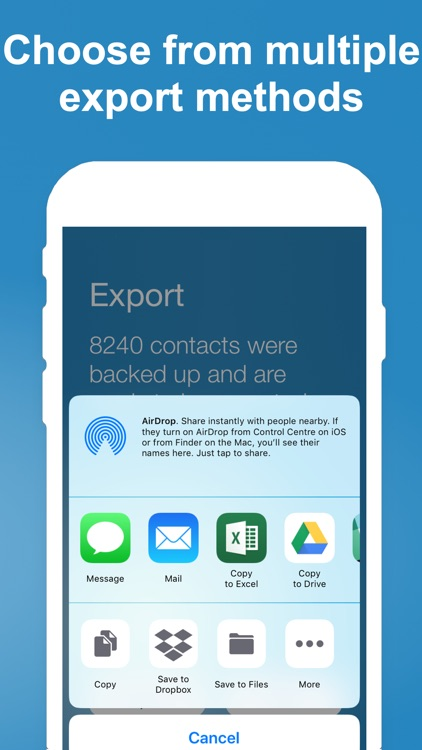 Export Contact screenshot-3