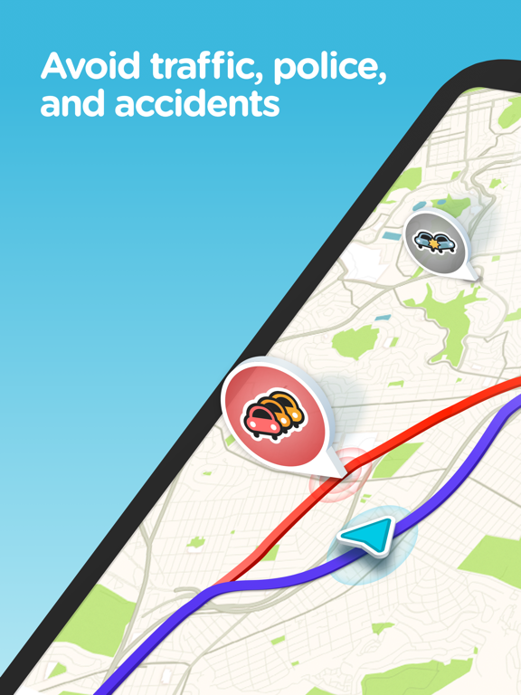 iPad Image of Waze Navigation & Live Traffic