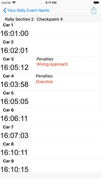 12 Car Rally Timer screenshot 7