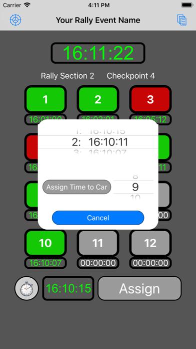 12 Car Rally Timer screenshot 5
