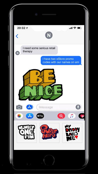 Hip Cool Type Stickers screenshot 1