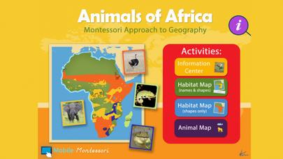 Montessori Animals of Africa screenshot 1