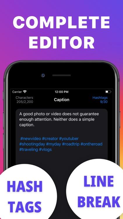 Caption Hashtags for Instagram screenshot-3