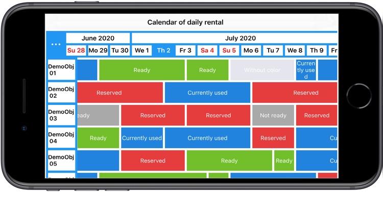 Rental Calendar. Realty