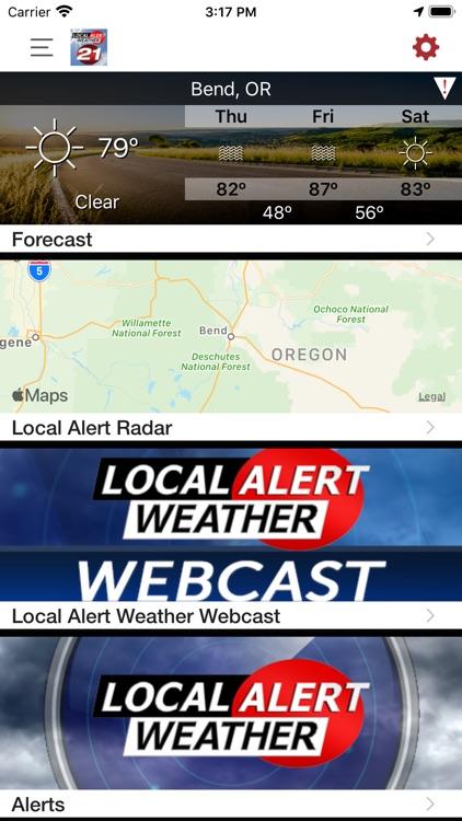 KTVZ Local Alert Weather App
