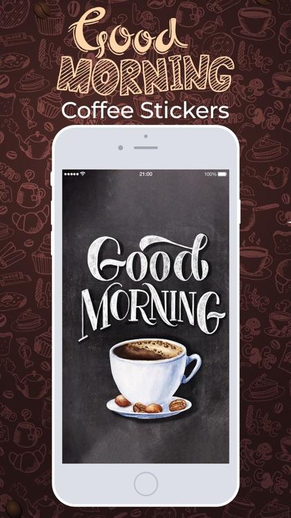 Good Morning Coffee Stickers