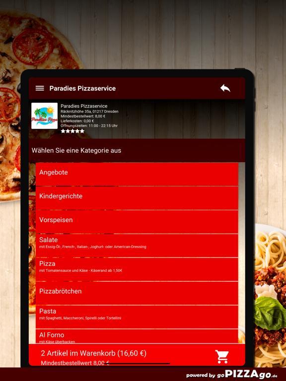 Paradies Pizzaservice Dresden screenshot 8