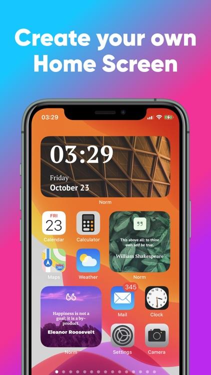Norm - Widgets for Home Screen screenshot-3
