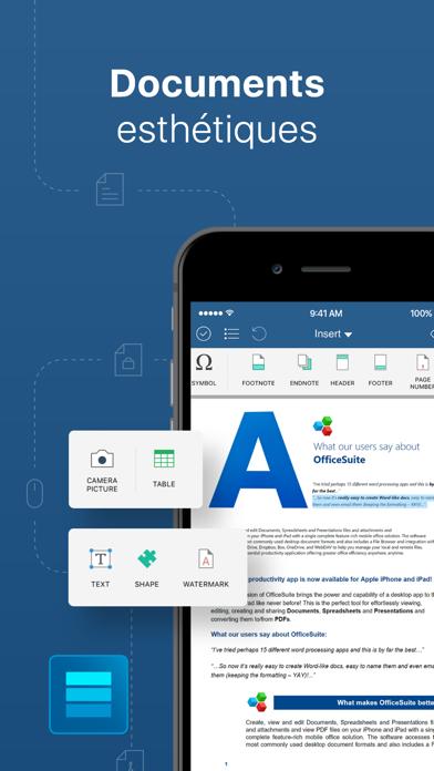 Screenshot #2 pour OfficeSuite et éditeur de PDF