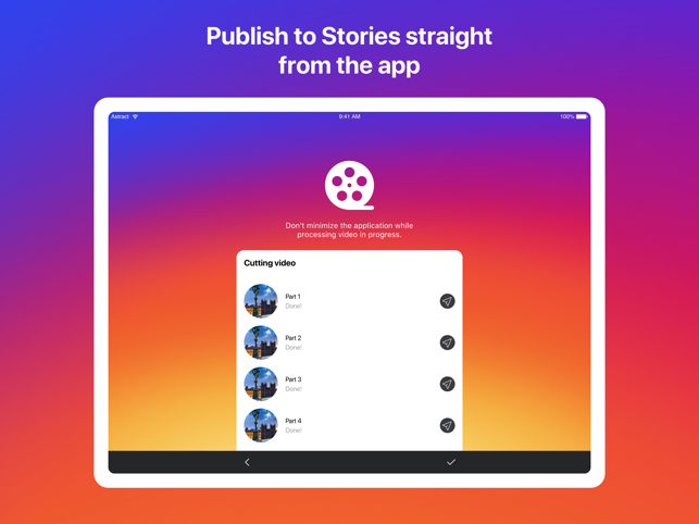 ‎CutStory - story video editor Screenshot