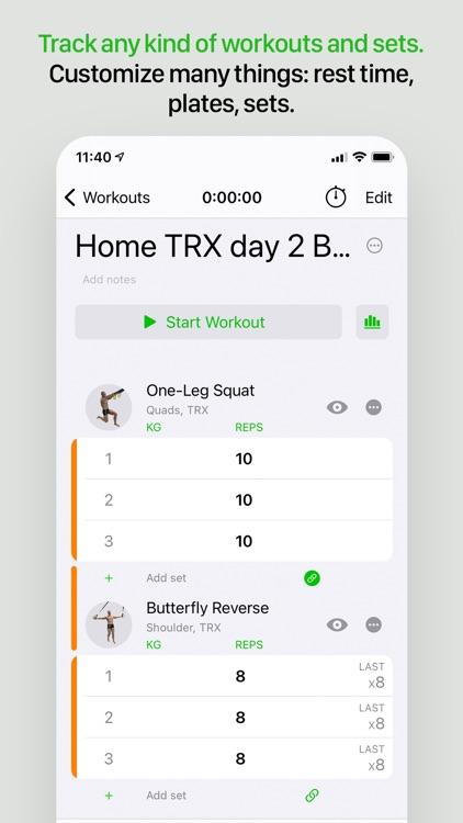 Gymaholic Workout Tracker screenshot-3