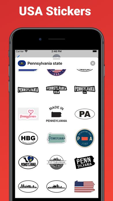 Pennsylvania state - USA emoji screenshot 2