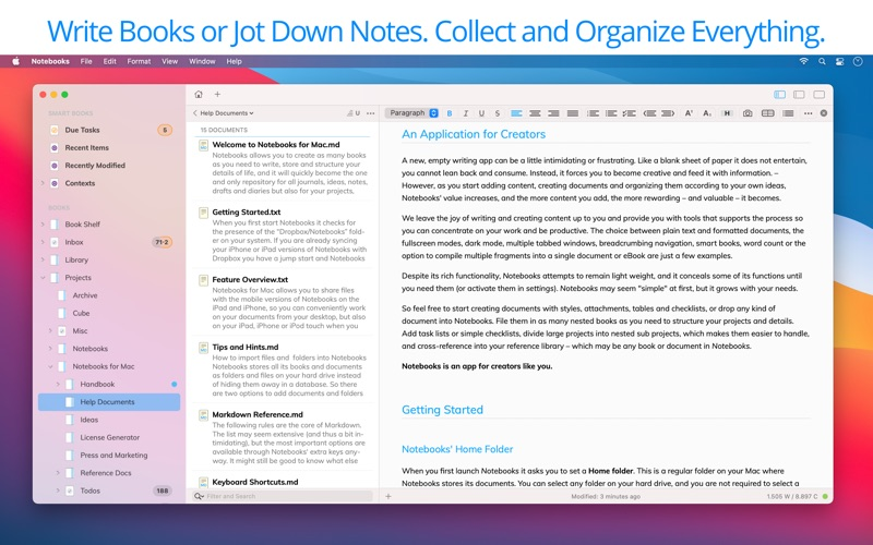Notebooks: Write & Organize скриншот программы 1
