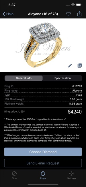 Ring Sizer By Jason Withers C On The App Store