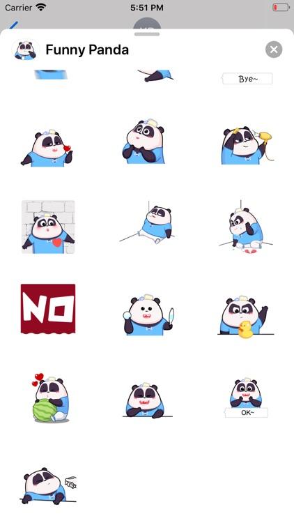 Funny Panda Animated Emoji screenshot-3