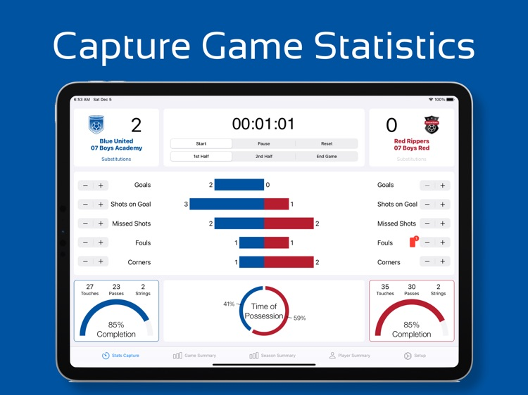 Game Stats - Soccer