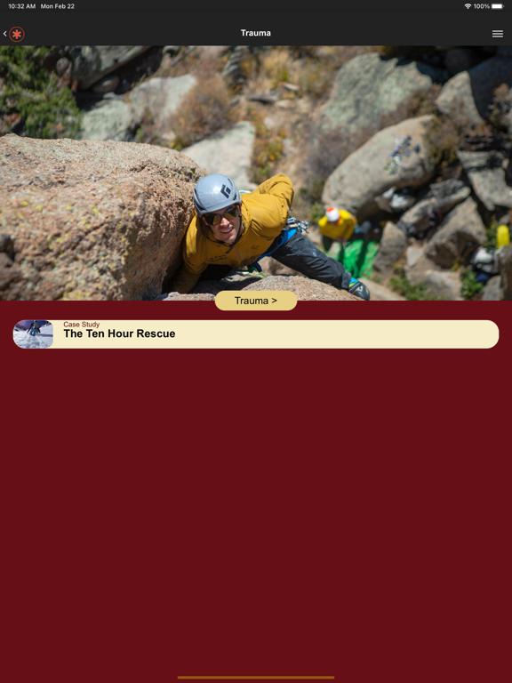 Ipad Screen Shot Wilderness Medicine Reference 2