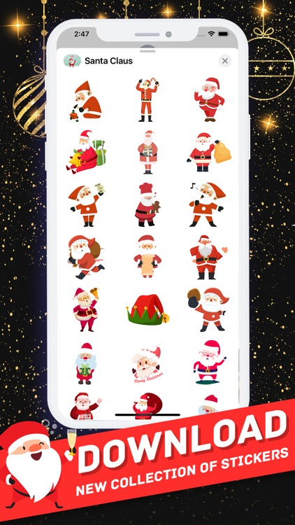 Santa Claus Stickers 2021