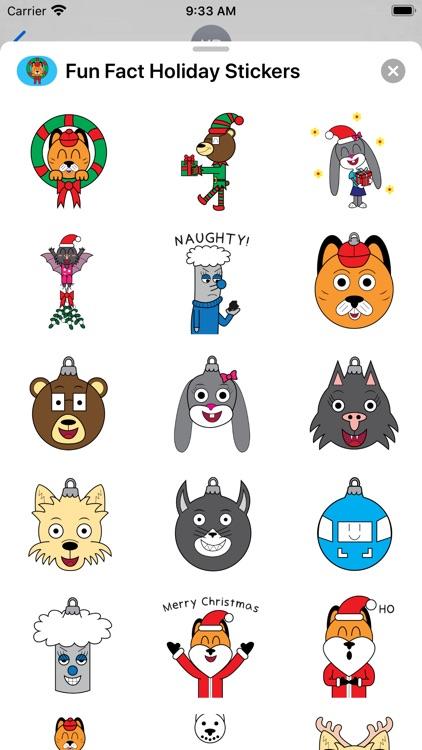 Fun Fact Holiday Stickers screenshot-3