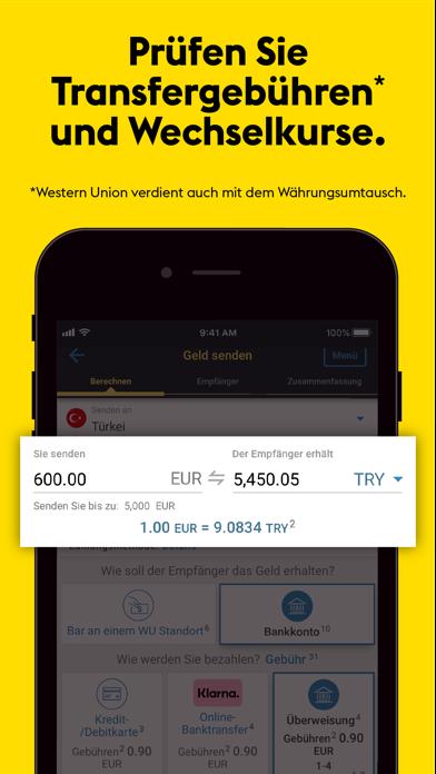 Western Union® GeldtransferScreenshot von 1