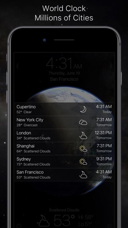 Living Earth - Clock & Weather screenshot-4