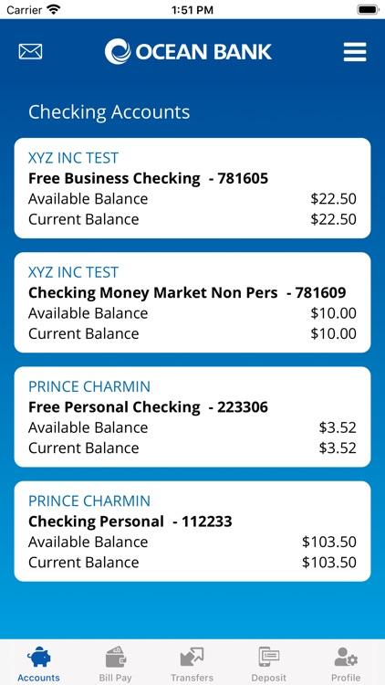 Ocean Bank Mobile Banking