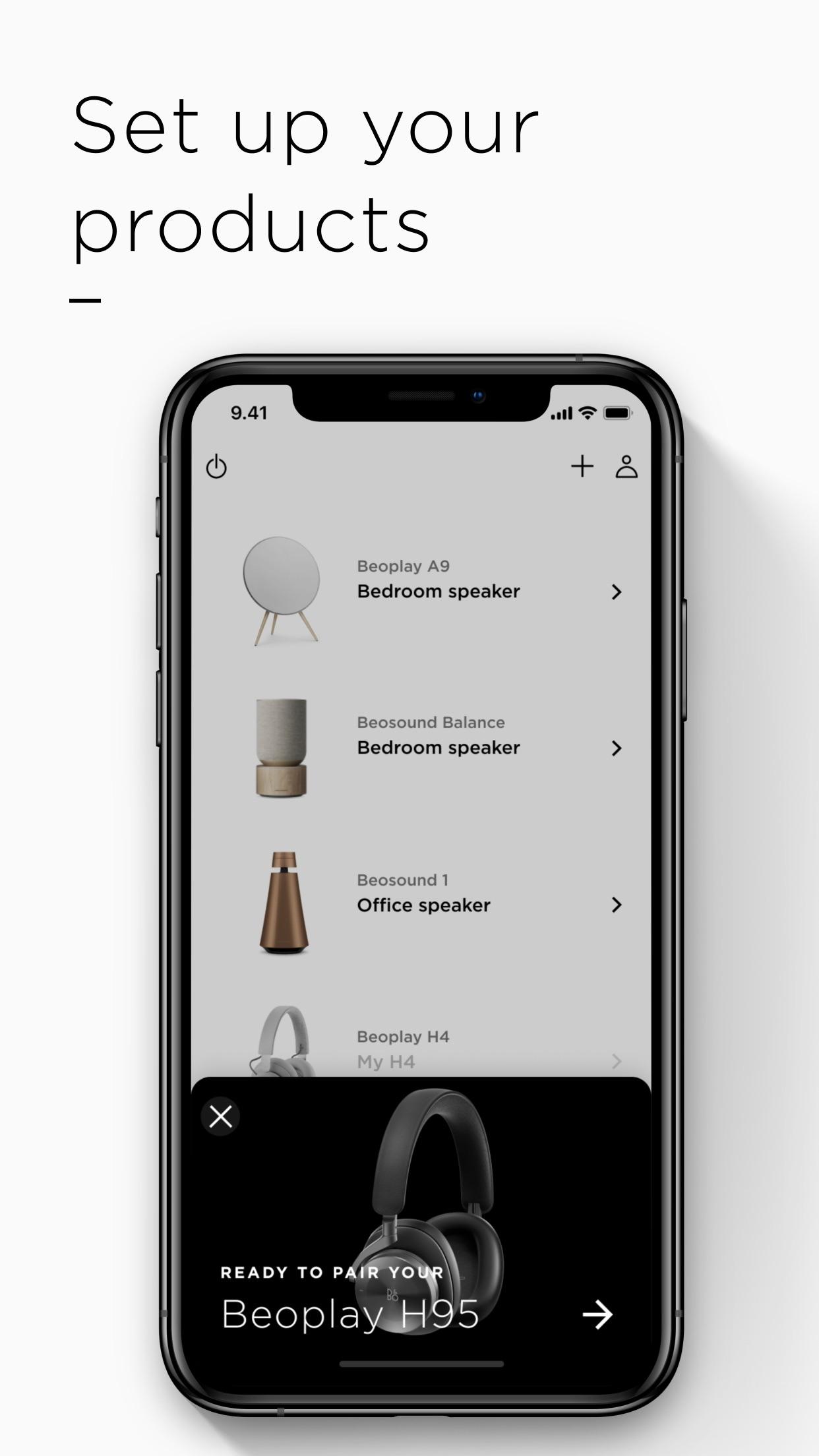 Screenshot do app Bang & Olufsen
