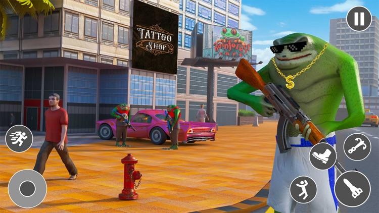Amazing Rope Hero Frog screenshot-4