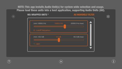 WU: AUHighShelfFilter screenshot 3