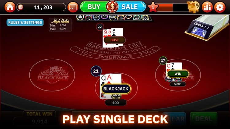 Blazing Bets Blackjack 21 screenshot-3