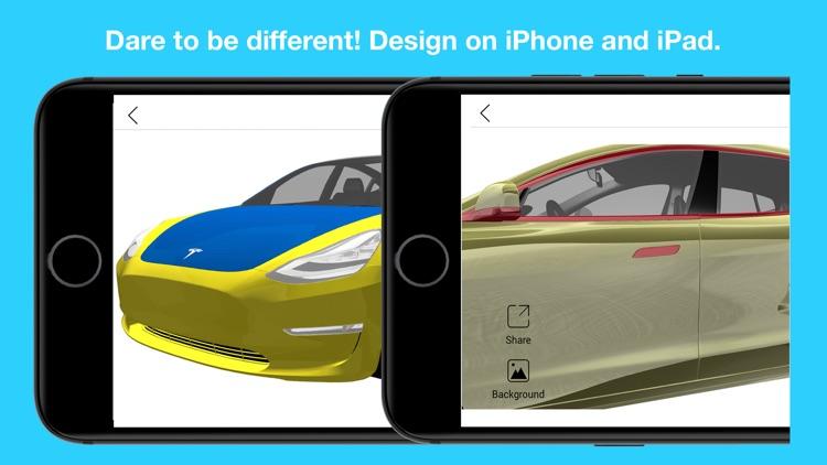 Wrap for Tesla 3D Color Change screenshot-7