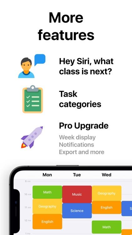 Class Timetable - Schedule App screenshot-5