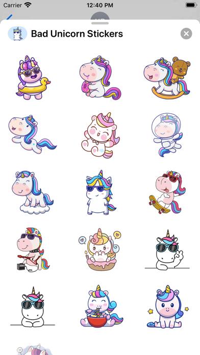 Bad Unicorn Stickers screenshot 2