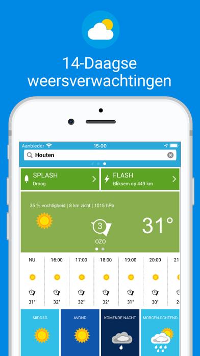 Weerplaza - complete weer app iPhone app afbeelding 1