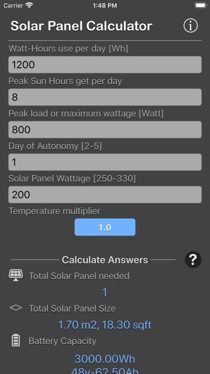 Solar Panel Calculator Plus screenshot-6