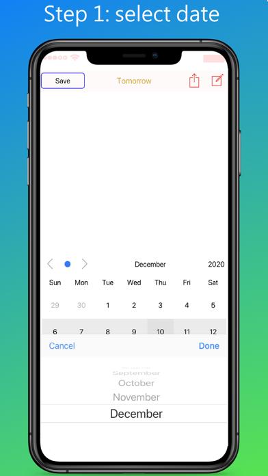 Daily Calendar Memo Screenshots