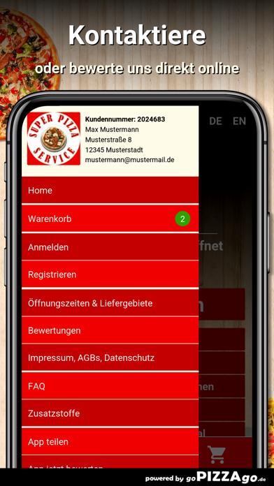Super Pizza Service Stuttgart screenshot 3