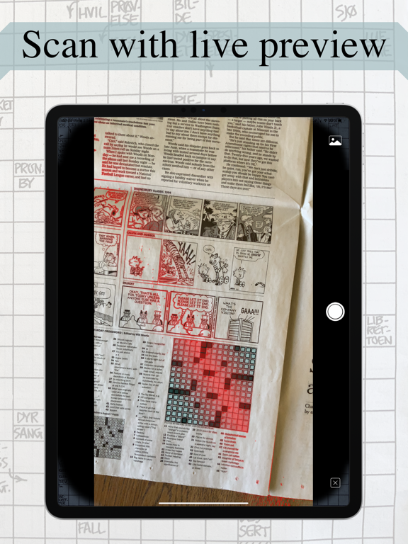 Crossword scanner: solve daily screenshot