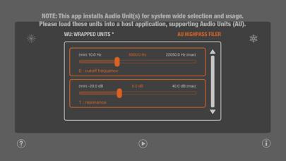 WU: AUHighPassFilter Screenshot