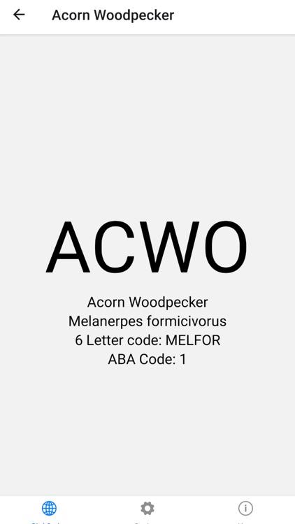 ABA/AOU Bird Codes screenshot-3