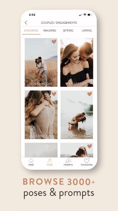 UNSCRIPTED Posing Guide App Screenshot